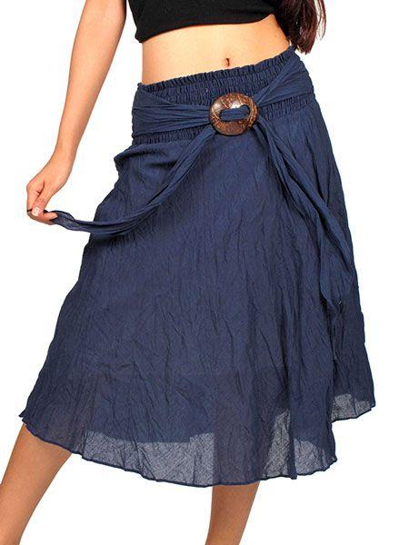 Faldas Hippie Boho Étnicas - Falda hippie con hebilla de coco [FAAL01] para comprar al por mayor o detalle  en la categoría de Ropa Hippie Alternativa para Chicas.