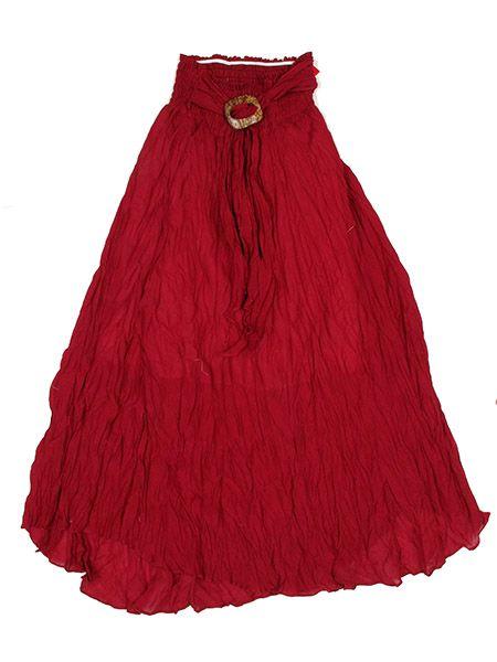 Falda 100% algodón material arrugado con cinto de material Comprar - Venta Mayorista y detalle