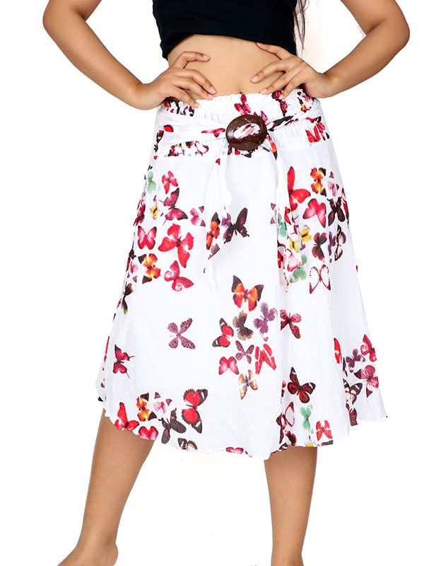 Faldas Hippie Boho Étnicas - Falda estampada hebilla de coco [FAAL03] para comprar al por mayor o detalle  en la categoría de Ropa Hippie Alternativa para Chicas.