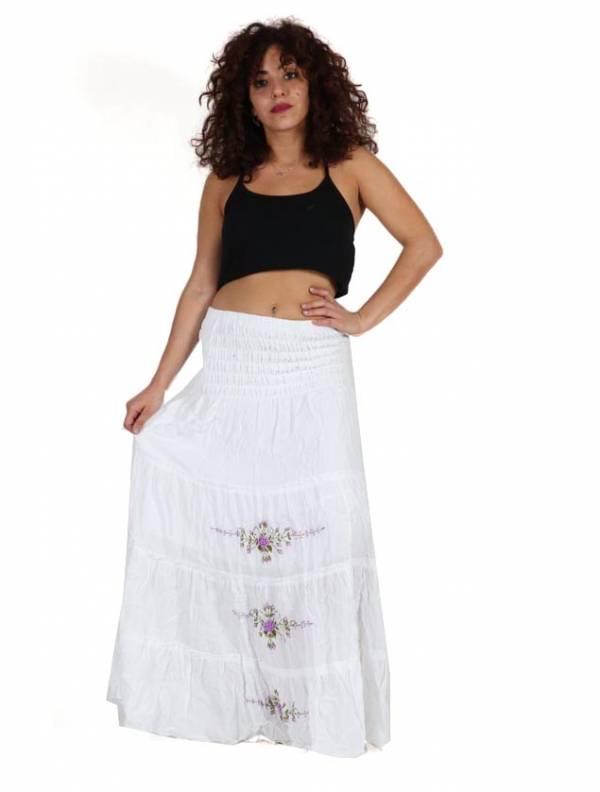 Vestido-Falda Étnico Bordado Flores - Detalle Comprar al mayor o detalle