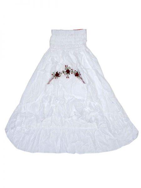 Faldas Hippie Étnicas - Vestido Flada ó falda FAAO02 - Modelo Blanco