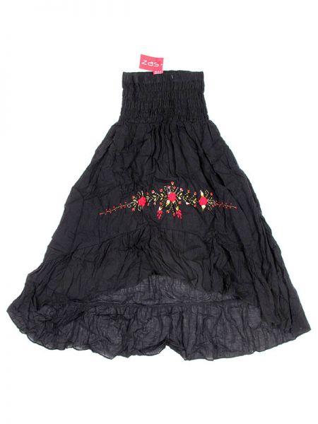 Faldas Hippie Étnicas - Vestido Flada ó falda FAAO02 - Modelo Negro