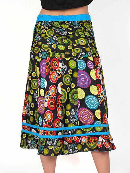 Falda larga 100% algodón estampada, falda de estilo hippie Comprar - Venta Mayorista y detalle
