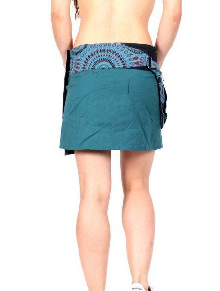 Minifalda hippie bordada con bolso - Detalle Comprar al mayor o detalle