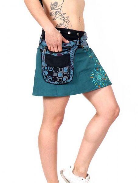 Minifalda hippie bordada con bolso Comprar - Venta Mayorista y detalle