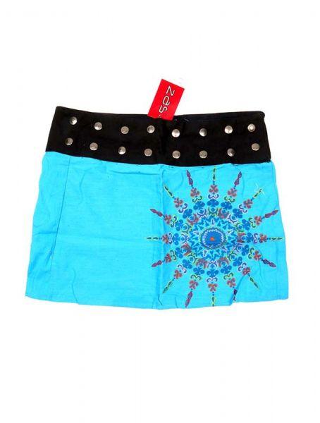 Minifalda hippie bordado SOL - Azul Comprar al mayor o detalle