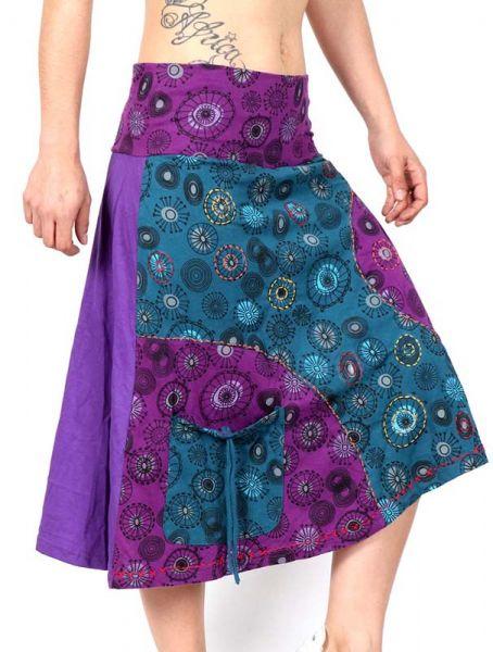 Faldas Hippie Étnicas - Flada Hippie mandala patch FAEV11 para comprar al por Mayor o Detalle en la categoría de Ropa Hippie Alternativa para Mujer