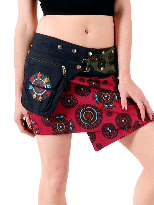 Minifalda hippie Mandalas con bolso para Comprar al mayor o detalle
