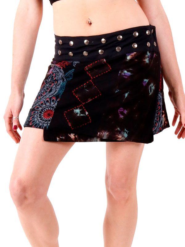 Faldas Hippie Boho Étnicas - Minifalda hippie con bordados patchwork [FAEV14] para comprar al por mayor o detalle  en la categoría de Ropa Hippie Alternativa para Chicas.