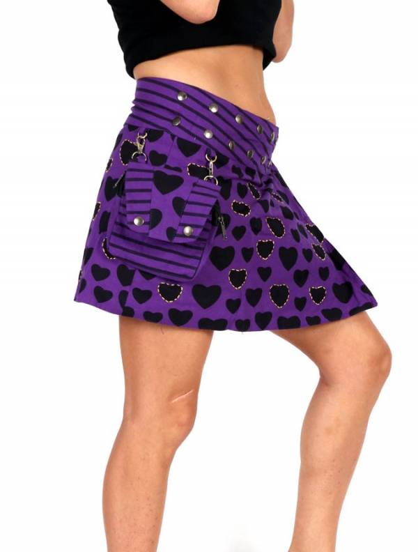 Minifalda hippie bordada con bolso [FAEV16] para comprar al por Mayor o Detalle en la categoría de Faldas Hippies y Étnicas