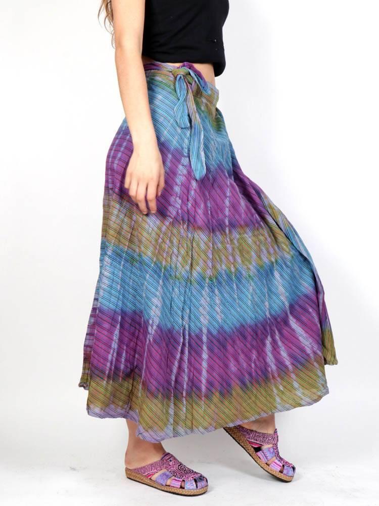Falda Hippie multicolor cruzada [FAEV18] para comprar al por Mayor o Detalle en la categoría de Faldas Hippies y Étnicas