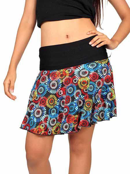 Minifalda hippie de mandalas con vuelo Comprar - Venta Mayorista y detalle