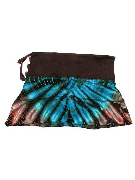 Minifalda de punto de algodón estampados tye dye con vuelo Comprar - Venta Mayorista y detalle