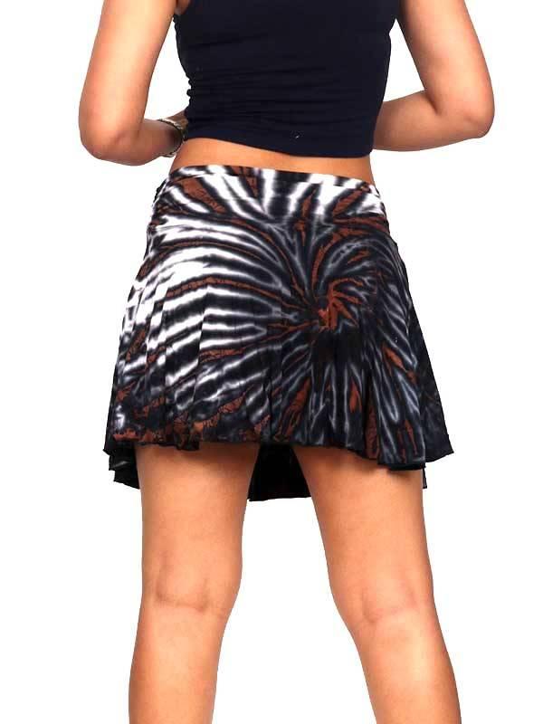Minifalda hippie Tie Dye con vuelo asimétrica - Detalle Comprar al mayor o detalle