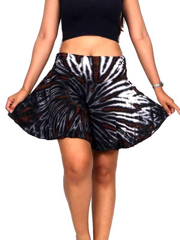 Faldas Hippie Boho Étnicas - Minifalda hippie Tie Dye con vuelo asimétrica [FAJU02] para comprar al por mayor o detalle  en la categoría de Ropa Hippie Alternativa para Chicas.