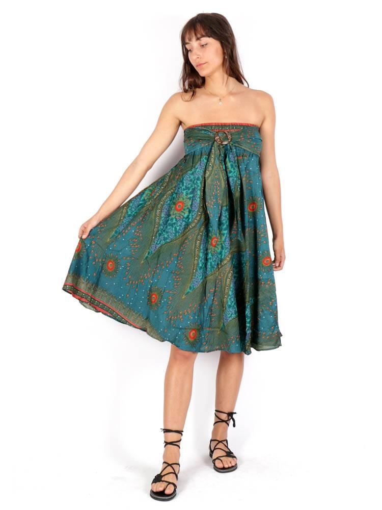 Vestido Hippie con Hebilla de Coco [FAPI01-V] para comprar al por Mayor o Detalle en la categoría de Vestidos Hippie Boho Alternativos