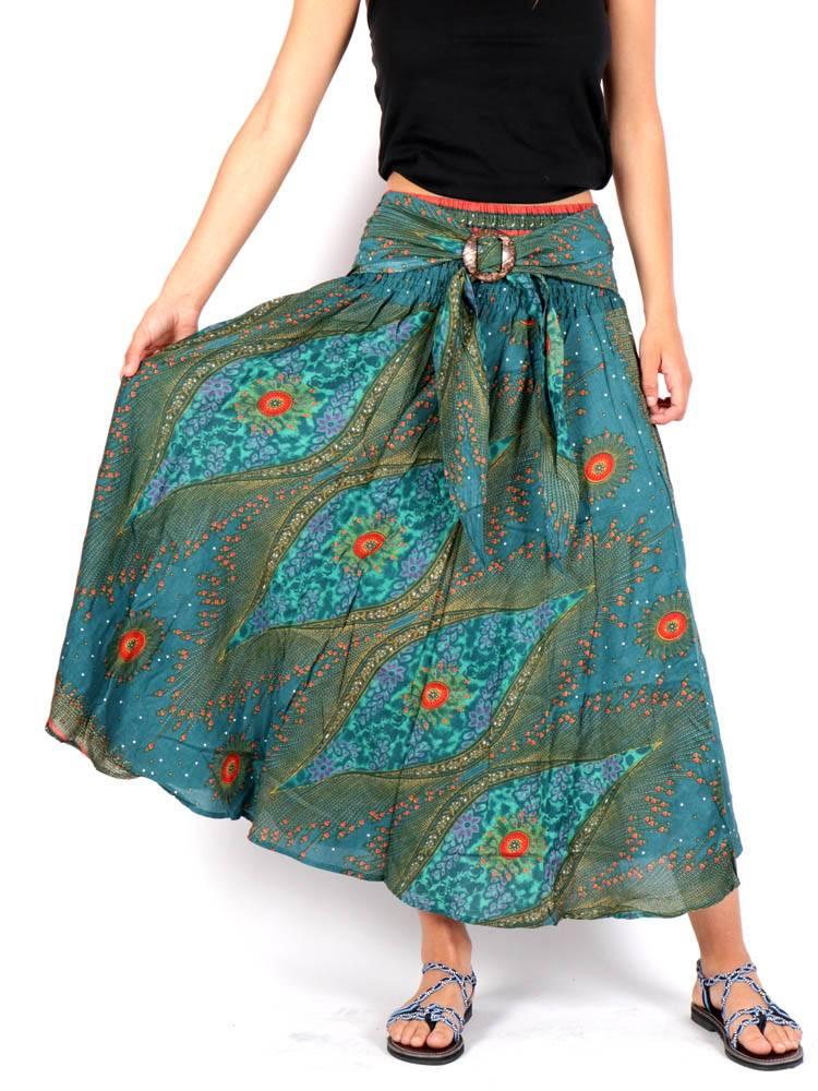 Falda Hippie con Hebilla de Coco [FAPI01] para comprar al por Mayor o Detalle en la categoría de Faldas Hippies y Étnicas