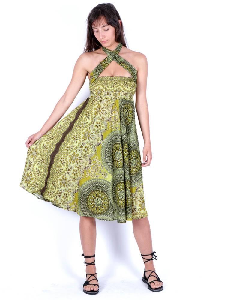 Vestido Hippie con Hebilla de Coco [FAPI02-V] para comprar al por Mayor o Detalle en la categoría de Vestidos Hippie y Alternativos