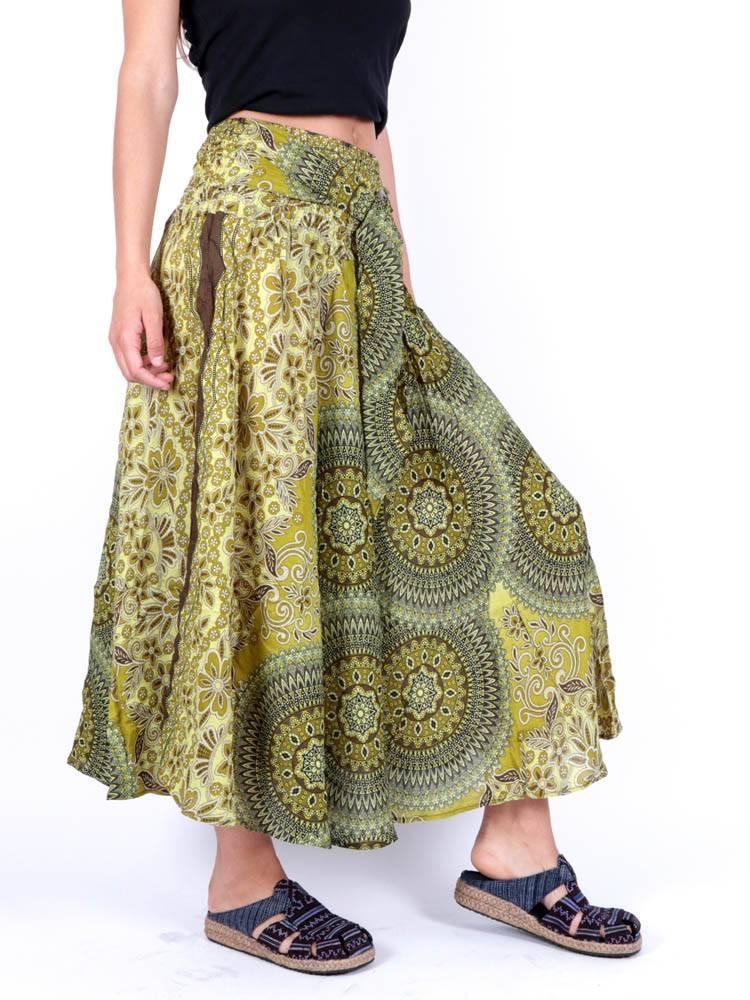 Falda Hippie con Hebilla de Coco [FAPI02] para comprar al por Mayor o Detalle en la categoría de Faldas Hippies y Étnicas