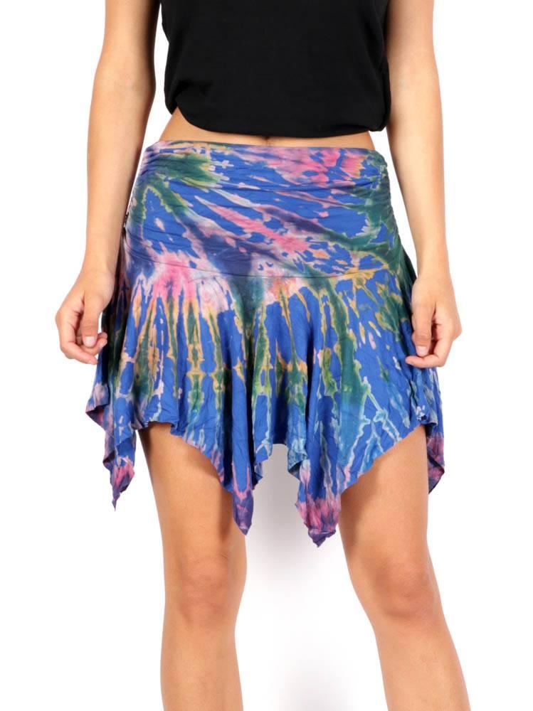 Minifalda hippie Tie Dye con Picos [FAPN02] para comprar al por Mayor o Detalle en la categoría de Faldas Hippies y Étnicas
