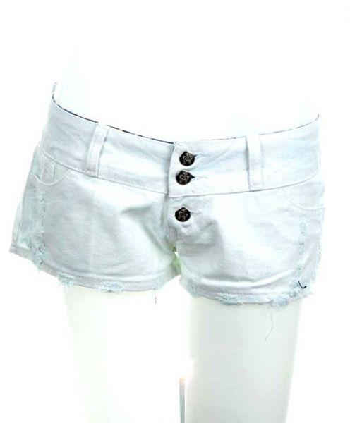 Mini Pantalón jeans corto, para chica en tela vaquera reciclada. Comprar - Venta Mayorista y detalle