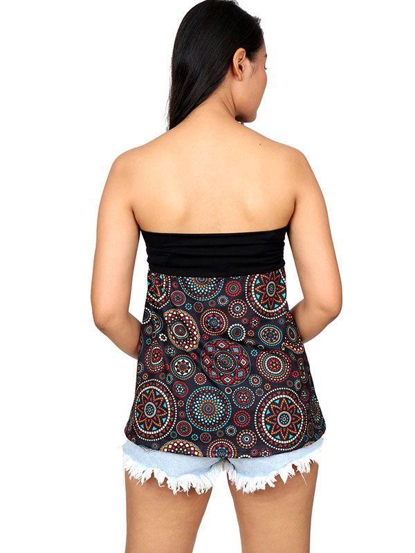 Minifalda Hippie estampado mandalas ethnic - Detalle Comprar al mayor o detalle