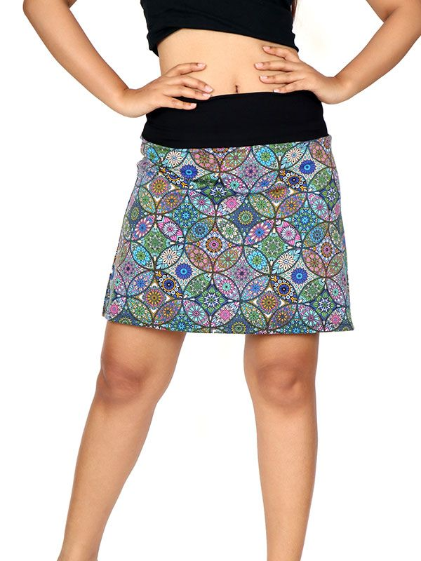 Minifalda Hippie estampado mandalas Étnicos [FASN08] para Comprar al mayor o detalle