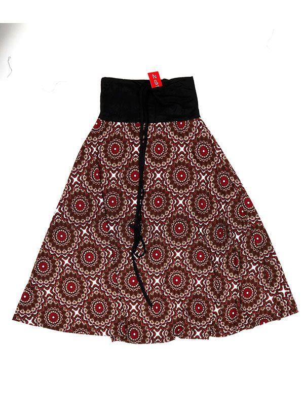 - Falda étnica estampado mandalas [FASN11] para comprar al por mayor o detalle  en la categoría de Complementos Hippies Étnicos Alternativos.
