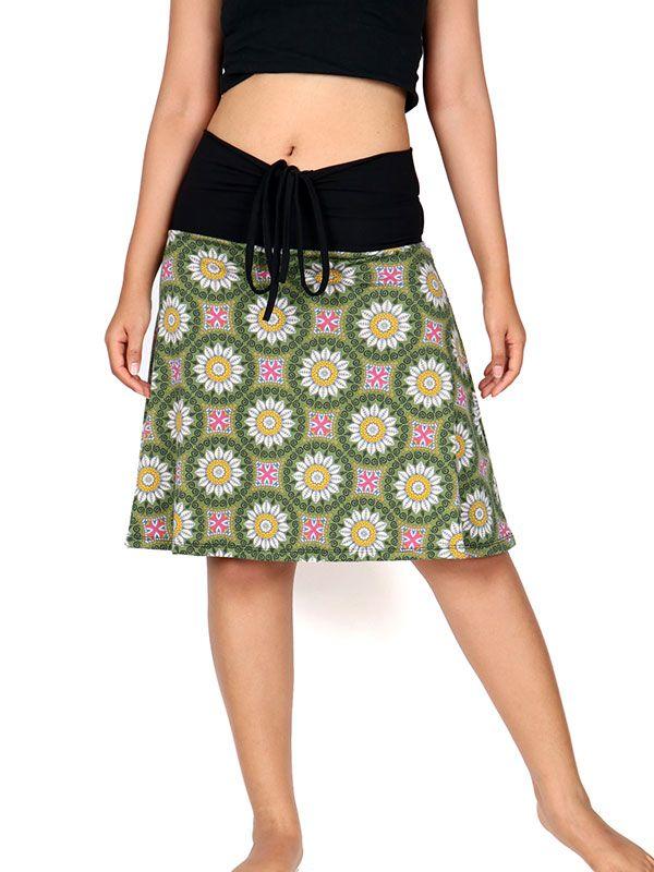 Faldas Hippie Boho Étnicas - Falda corta Hippie estampado mandalas [FASN15] para comprar al por mayor o detalle  en la categoría de Ropa Hippie Alternativa para Chicas.