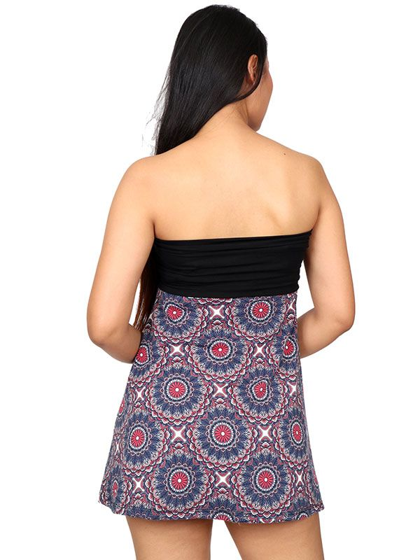 Falda corta Hippie estampado mandalas - Detalle Comprar al mayor o detalle