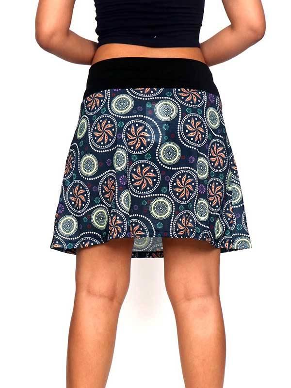 Falda corta Hippie con estampado de mandalas - Detalle Comprar al mayor o detalle