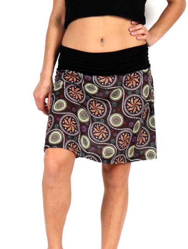 Faldas Hippie Étnicas - Falda corta Hippie con estampado de mandalas FASN17 para comprar al por Mayor o Detalle en la categoría de Ropa Hippie Alternativa para Mujer