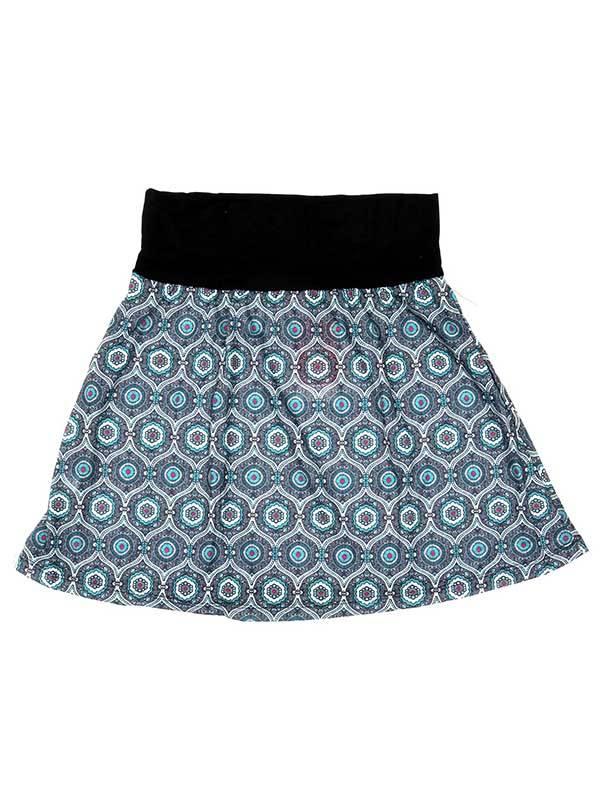 Top corto Hippie con estampado de mandalas - Azul Comprar al mayor o detalle
