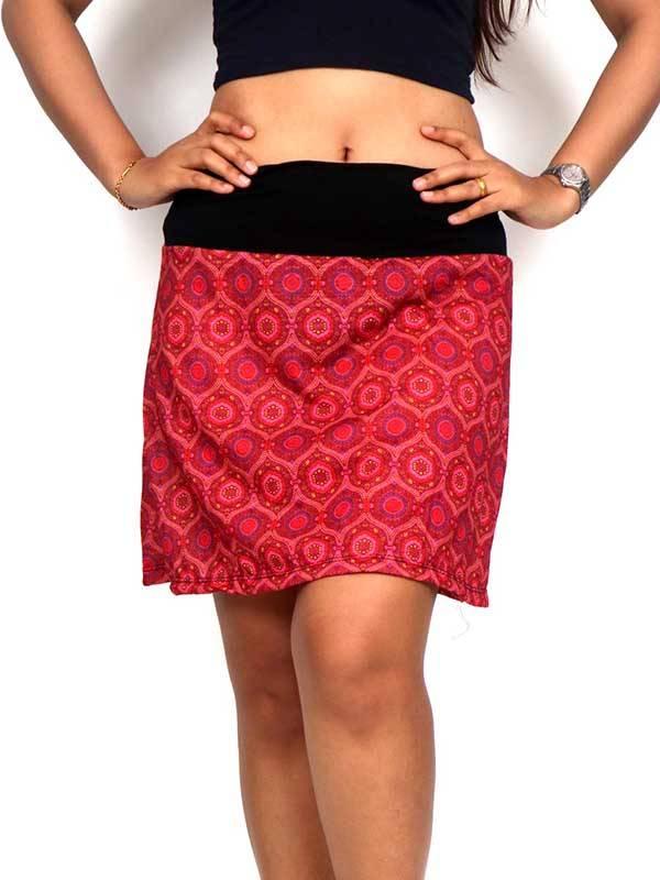 Falda corta Hippie con estampado de mandalas [FASN18] para comprar al por Mayor o Detalle en la categoría de Faldas Hippies y Étnicas
