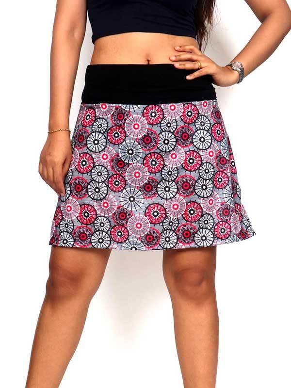 Faldas Hippies y Étnicas - Falda corta Hippie con estampado de mandalas FASN19 para comprar al por Mayor o Detalle en la categoría de Ropa Hippie para Mujer
