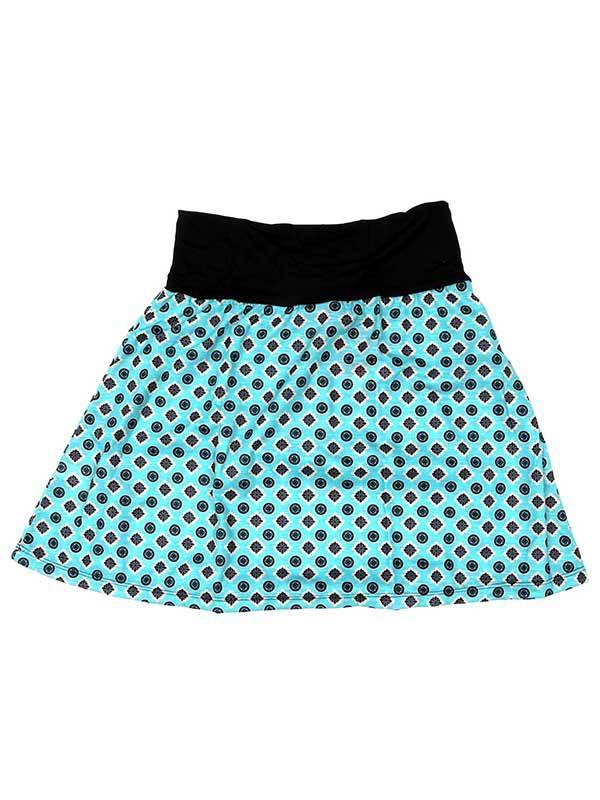Falda corta Hippie con estampado de mandalas - Azul Comprar al mayor o detalle