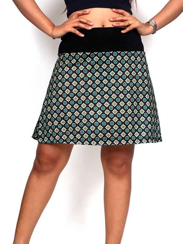 Falda corta Hippie con estampado de mandalas [FASN20] para comprar al por Mayor o Detalle en la categoría de Faldas Hippies y Étnicas