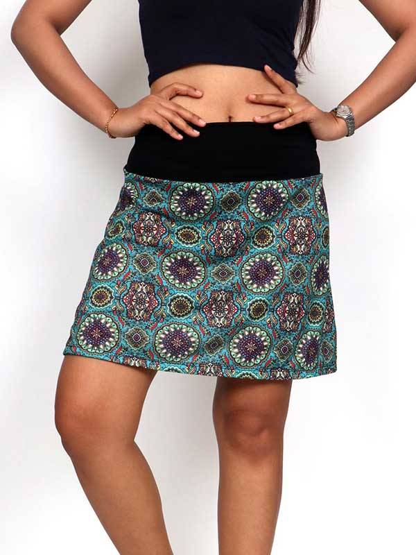 Faldas Hippie Étnicas - Falda corta Hippie con estampado de mandalas FASN21 para comprar al por Mayor o Detalle en la categoría de Ropa Hippie Alternativa para Mujer