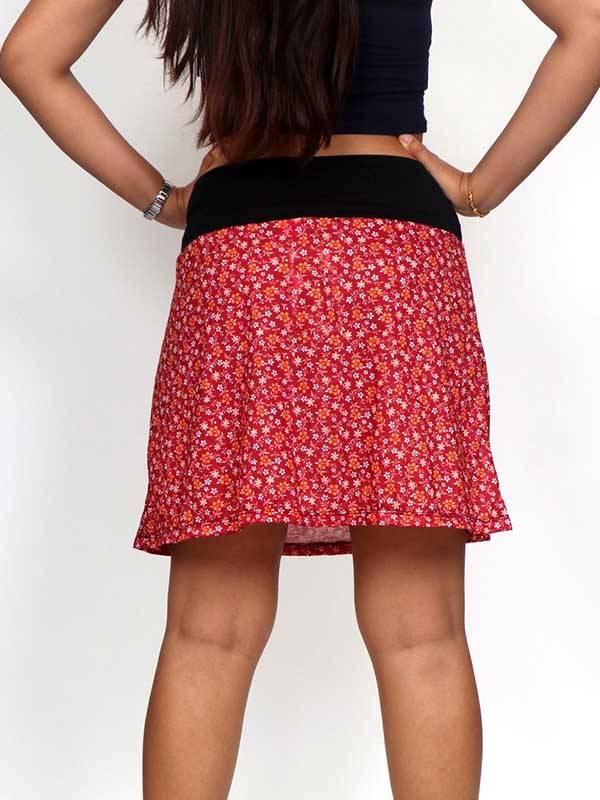 Falda corta Hippie con estampado de flores - Detalle Comprar al mayor o detalle