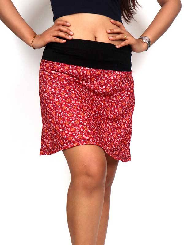 Faldas Hippie Étnicas - Falda corta Hippie con estampado de flores FASN22 para comprar al por Mayor o Detalle en la categoría de Ropa Hippie Alternativa para Mujer