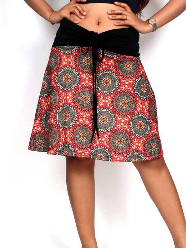 Faldas Hippies y Étnicas - Falda Hippie con estampado de mandalas FASN25 para comprar al por Mayor o Detalle en la categoría de Ropa Hippie para Mujer