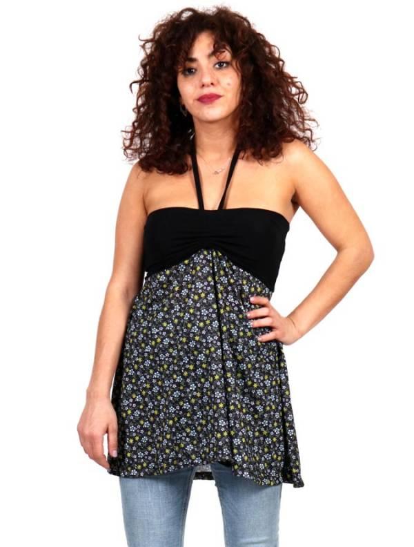Camisetas y Tops Hippies - Top Hippie con estampado de flores FASN27-T para comprar al por Mayor o Detalle en la categoría de Ropa Hippie Alternativa para Mujer
