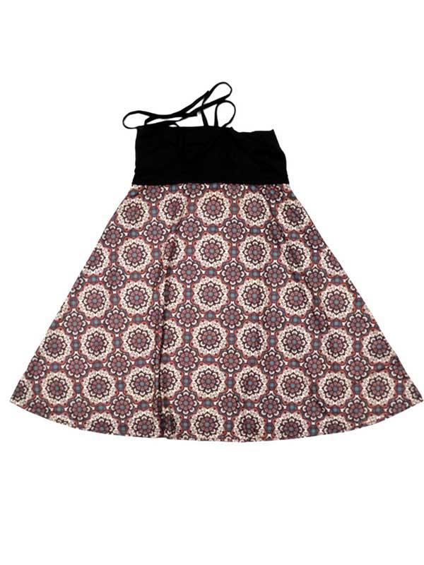Falda larga Hippie con estampado de mandalas - Marrón Comprar al mayor o detalle