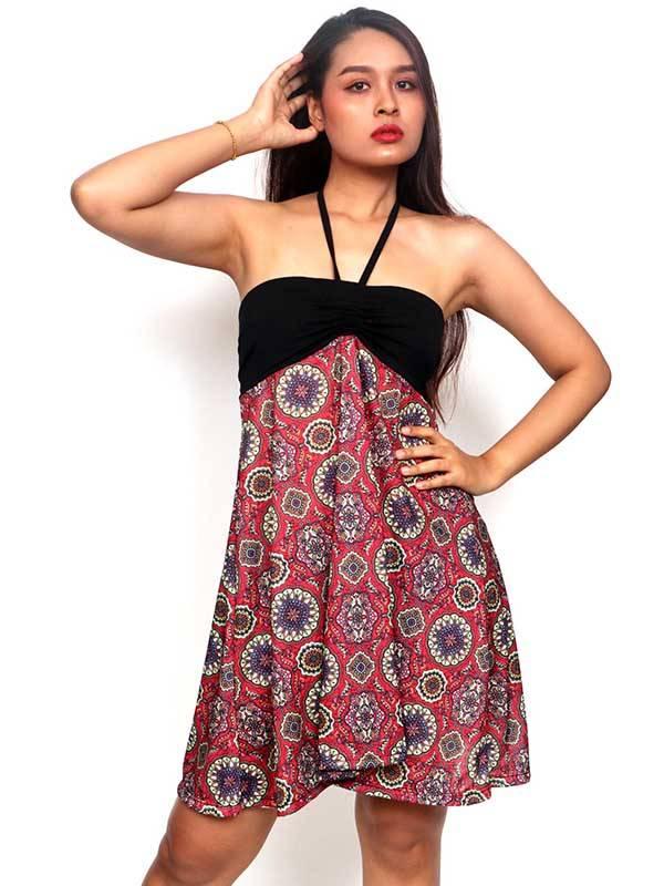 Ethnische Hippie-Kleider - Hippie-Kleid mit Mandaladruck FASN29-T für den Groß- oder Einzelhandel in der Kategorie Alternative Hippie-Kleidung für Frauen