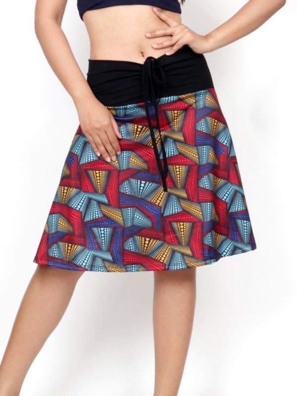 Falda Hippie con estampado Etnico [FASN32] para comprar al por Mayor o Detalle en la categoría de Faldas Hippies y Étnicas