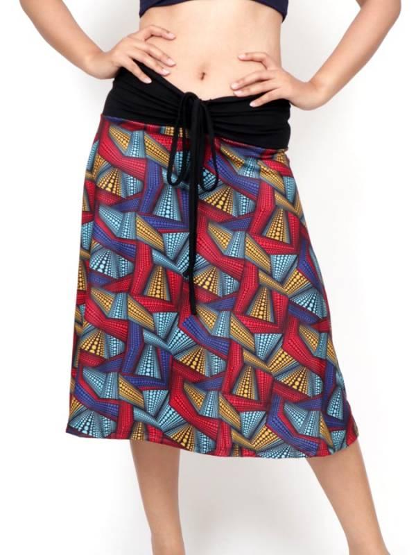 Falda Hippie larga con estampado Etnico [FASN33] para comprar al por Mayor o Detalle en la categoría de Faldas Hippies y Étnicas