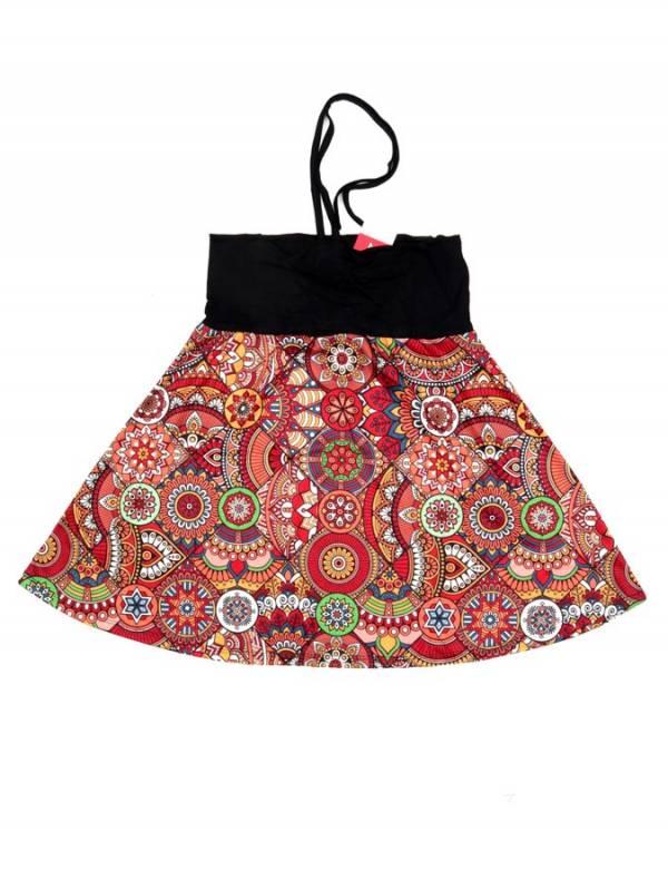 Top Hippie con estampado Etnico - Rojo Comprar al mayor o detalle