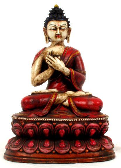 Figura de cerámica Budha Tibetano, alto 30 cm [FIC1] para comprar al por Mayor o Detalle en la categoría de Decoración Etnica