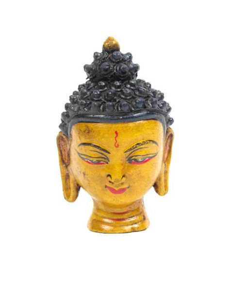 Decoración Etnica - Cabeza buda cerámica, figura cabeza de budha de cerámica pintada [FIC2] para comprar al por mayor o detalle  en la categoría de Artículos Artesanales.
