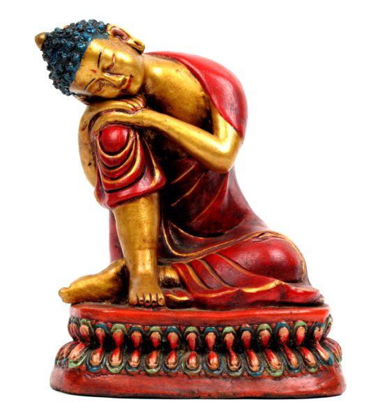 Decoración Etnica - Figura Buda dormido realizada en cerámica decorada por artesanos tibetanos. Altura de 25cm aprox FIC6 para comprar al por Mayor o Detalle en la categoría de Artículos Artesanales